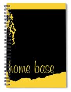 Washington Is Home Base Black Spiral Notebook