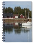 Washington Island Harbor 4 Spiral Notebook