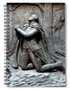 Washington Kneeling In Praying Spiral Notebook