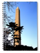 Washington Monument At Dusk Spiral Notebook