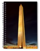 Washington Monument At Night  Spiral Notebook