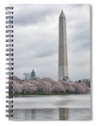 Washington Monument During Cherry Blossom Festival  Spiral Notebook