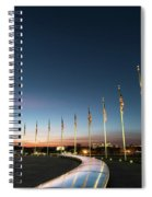 Washington Monument Flags Spiral Notebook