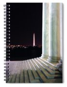 Washington Monument From Stairs Of Jefferson Spiral Notebook