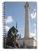 Washington Monument In Baltimore Spiral Notebook