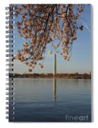 Washington Monument With Cherry Blossoms Spiral Notebook