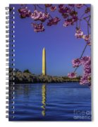 Washington Reflection And Blossoms Spiral Notebook