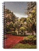 Washington Square In Mobile Alabama Painted Spiral Notebook