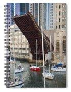 Washington Street Bridge Lift Chicago Spiral Notebook