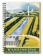 Washington Vintage Travel Poster Restored Spiral Notebook