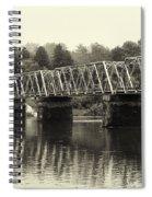 Washington's Crossing Bridge On A Rainy Day Spiral Notebook