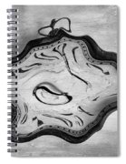 Wasted Time Bw Spiral Notebook