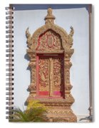 Wat Buppharam Phra Wihan Window Dthcm1581 Spiral Notebook