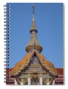 Wat Chaimongkron Phra Wihan Gable And Spire Dthcb0090 Spiral Notebook