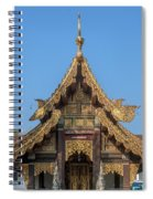 Wat Jed Yod Gable Of The Vihara Of The 700 Years Image Dthcm0963 Spiral Notebook