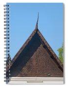 Wat Jed Yod Phra Ubosot Teakwood Gable Dthcm0968 Spiral Notebook