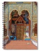 Wat Mae Faek Luang Phra Wihan Entrance Dthcm1876 Spiral Notebook