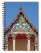Wat Pho Samphan Phra Ubosot Gable Dthcb0065 Spiral Notebook