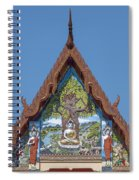 Wat Pho Samphan Phra Ubosot Gable Dthcb0066 Spiral Notebook