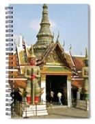Wat Po Bangkok Thailand 16 Spiral Notebook