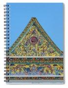 Wat Ratcha Orasaram Phra Wihan Gable Dthb0862 Spiral Notebook