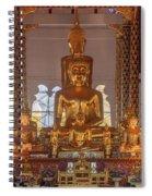 Wat Suan Dok Wihan Luang Buddha Images Dthcm0952 Spiral Notebook