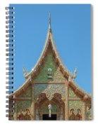 Wat Suan Prig Phra Wihan Gable Dthcm2391 Spiral Notebook