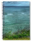 Watching From Afar Kuilei Cliffs Beach Park Surfing Hawaii Collection Art Spiral Notebook