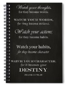 Watch Your Thoughts Spiral Notebook