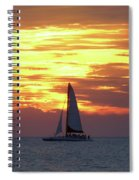 Watching Fire In The Sky Spiral Notebook