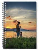 Watching Sunset With Daddy Spiral Notebook