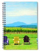 Watching The Grapes Grow Spiral Notebook