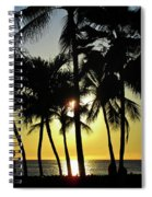 Watching The Hawaiian Sunset  Spiral Notebook