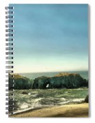 Watching The Rocks And Waves Spiral Notebook