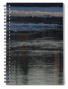 Water And The Ice - Icy River Danube Spiral Notebook