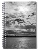 Water And Sky - Bw Spiral Notebook