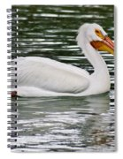Water Bird With Notches Spiral Notebook