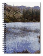 Water Body Surrounded By Greenery Spiral Notebook