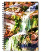 Water Cascading Spiral Notebook