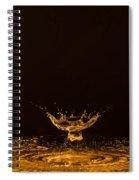 Water Collision Orange Spiral Notebook