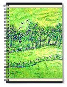 Water Color Of Apple Orchard Farm Spiral Notebook