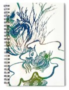 Water Color Poster Of Good And Evil Spiral Notebook