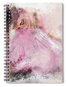 Water Colour Ballerina Spiral Notebook