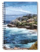 Water Cove With Rocky Cliffs Spiral Notebook