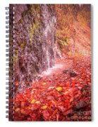 Water Dripping On The Rock Wall Spiral Notebook