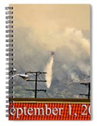 Water Drop On The Station Fire Spiral Notebook