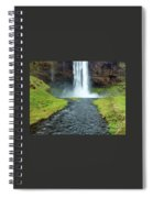 Water Falling In Iceland Spiral Notebook