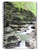 Water Flowing Through The Gorge Spiral Notebook