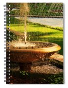 Water Fountain Garden Spiral Notebook