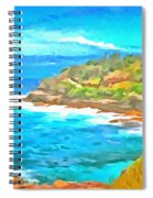 Water Gushing In On A Natural Cove Spiral Notebook
